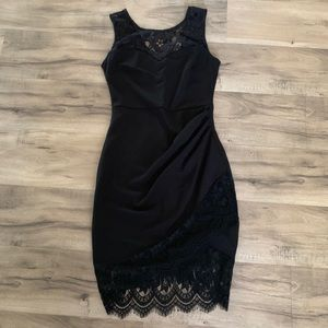 Mystic | Women's Faux Wrap Lace Detail Sleeveless